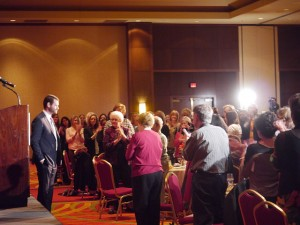 Zach Wahls and IWF audience